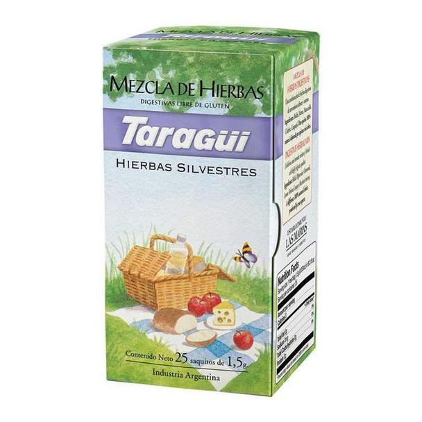 Taragüi Herbal Mix Tea Bags Natural Digestive Herbs Ideal for After Meals, 25 tea bags