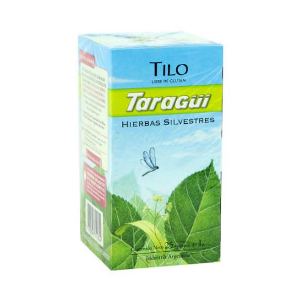 Taragüi Tilo Linden Tea Bags Natural Digestive Herbs Ideal for After Meals, 25 tea bags