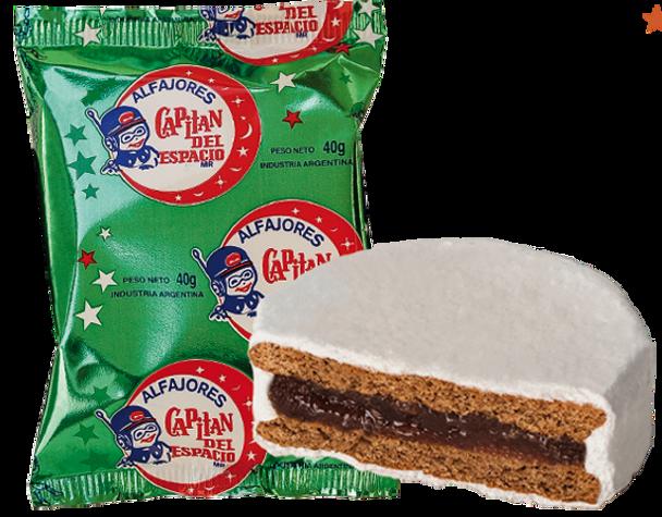 Capitán del Espacio Membrillo Alfajor Quince Jelly Filling Sugar Coating  Difficult to Find (pack of 6)