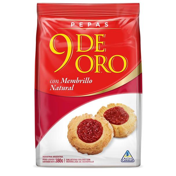 """Pepas Membrillo 9 de Oro Quince Jelly """"Pepas"""" Sweet Snack, 380 g / 13.4 oz"""