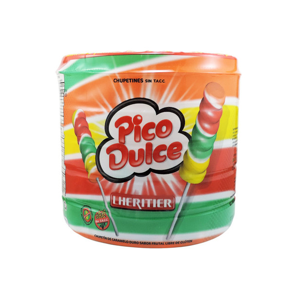 Pico Dulce Chupetín Fruit Rainbow Lollipop Favorite Candy Popular for Parties & Birthdays, 672 g / 23.7 oz (box of 48)