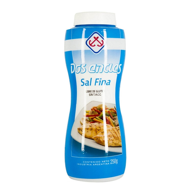 Dos Anclas Sal Fina Botella Salero Salt Bottle, 500g / 1.1 lb