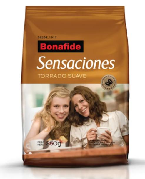 Bonafide Café Torrado Sensaciones Molido Suave Soft Roasted Ground Coffee, 250 g / 0.55 lb