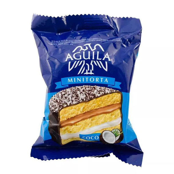 Águila Alfajor Coco Coconut Cream Minicake with Dulce de Leche, 72 g / 2.5 oz (pack of 6)