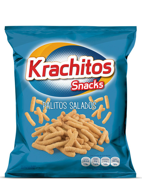 Krachitos Palitos Salados Super Bag, 800 g / 28.2 oz bag