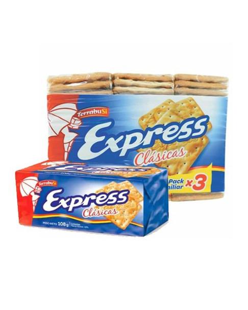 Express Water Biscuits Galletitas de Agua Classic for Breakfast, Brunch & Tea, 324 g / 11.4 oz tri-pack