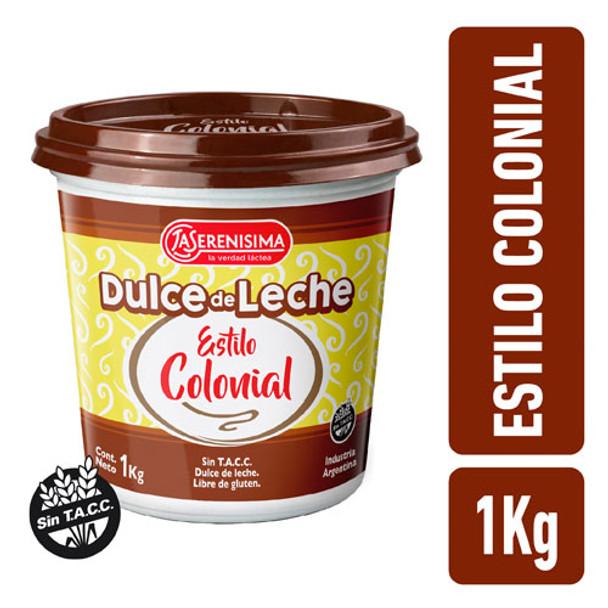 La Serenísima Colonial Dulce de Leche Traditional Recipe, 1 kg / 2.2 lb Super Value Jar