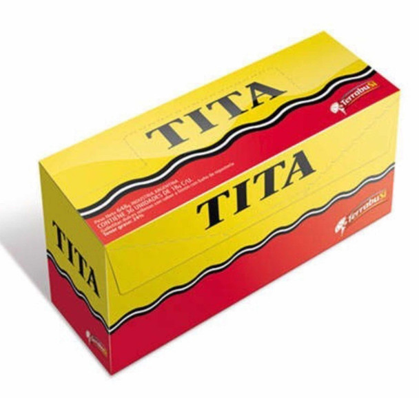 Tita Chocolate Coated Cookie With Lemon Cream Filling, 36 cookies x 18 g / 0.63 oz family box