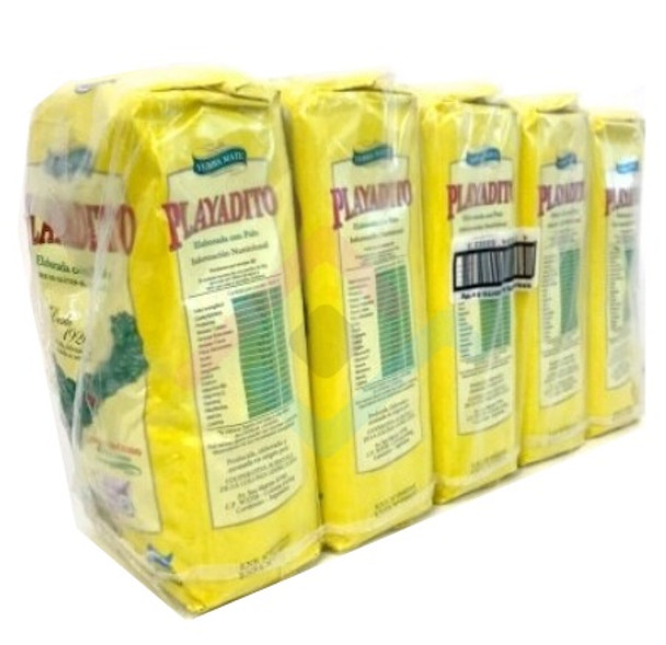 Playadito Yerba Mate Traditional Con Palo from Colonia Liebig Wholesale Bulk Pack - New Packaging, 1 kg / 2.2 lb ea (5 count per pack)