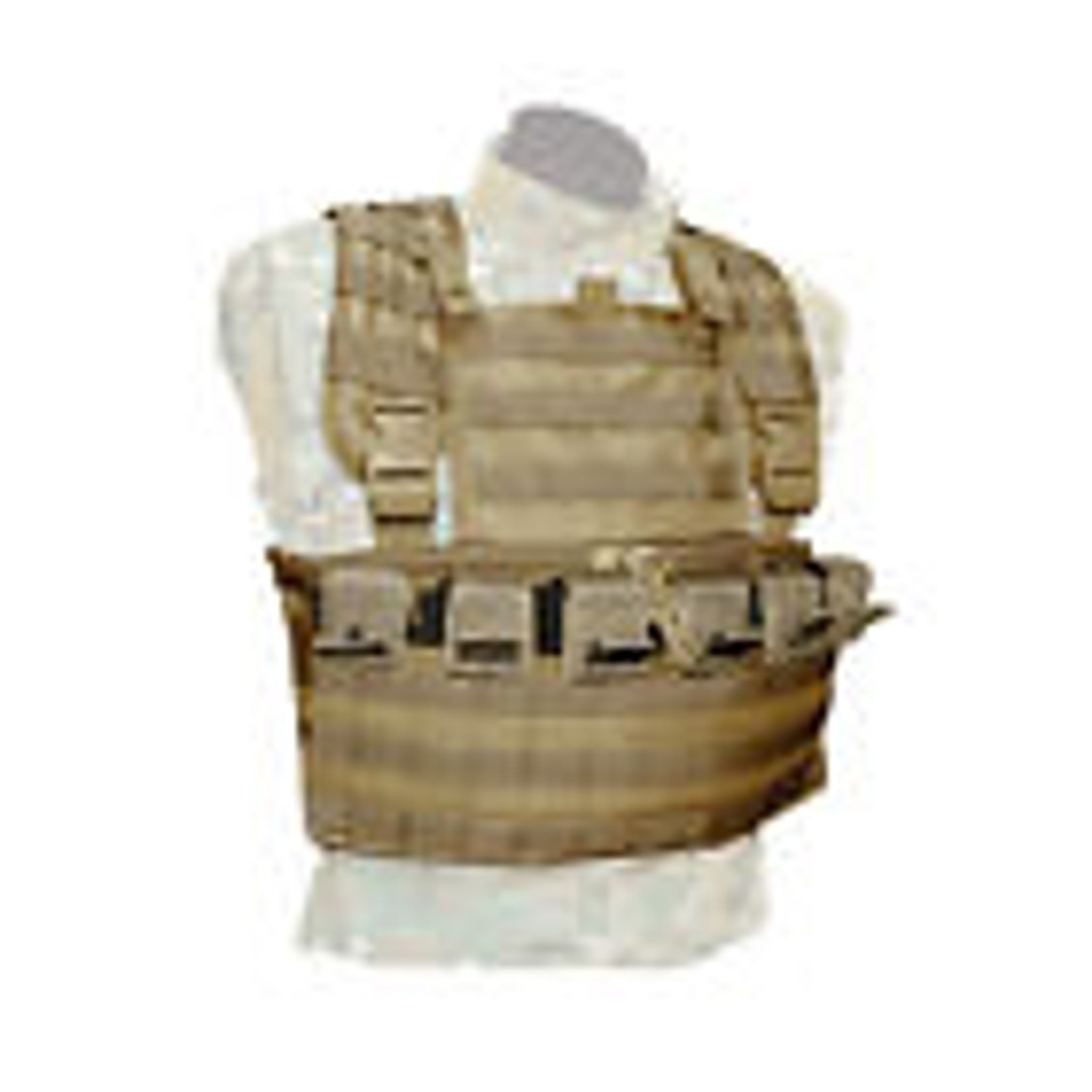 BDS Tactical Simple Stacker Chest Rig 12 Mag Coyote Brown CRSS12-DT