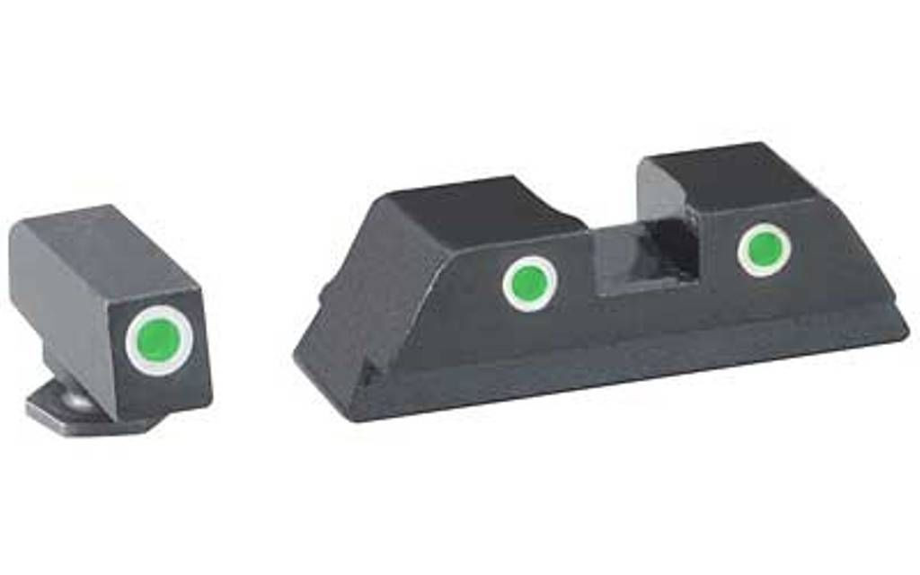 Ameriglo Classic 3 Dot Night Sights for Glock 42 & 43 Green/Green G42 G43 GL-430