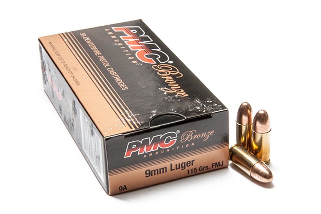 pmc bronze 9mm 115gr fmj 500 rounds ammunition 9a wise tactical
