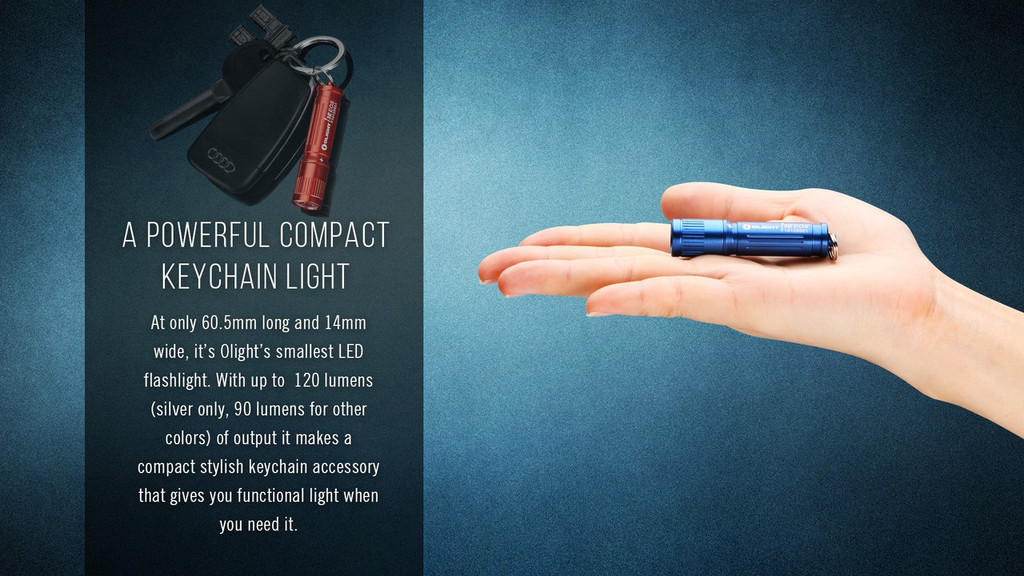 Olight i3E EOS 120 Lumen Mini Keychain Flashlight