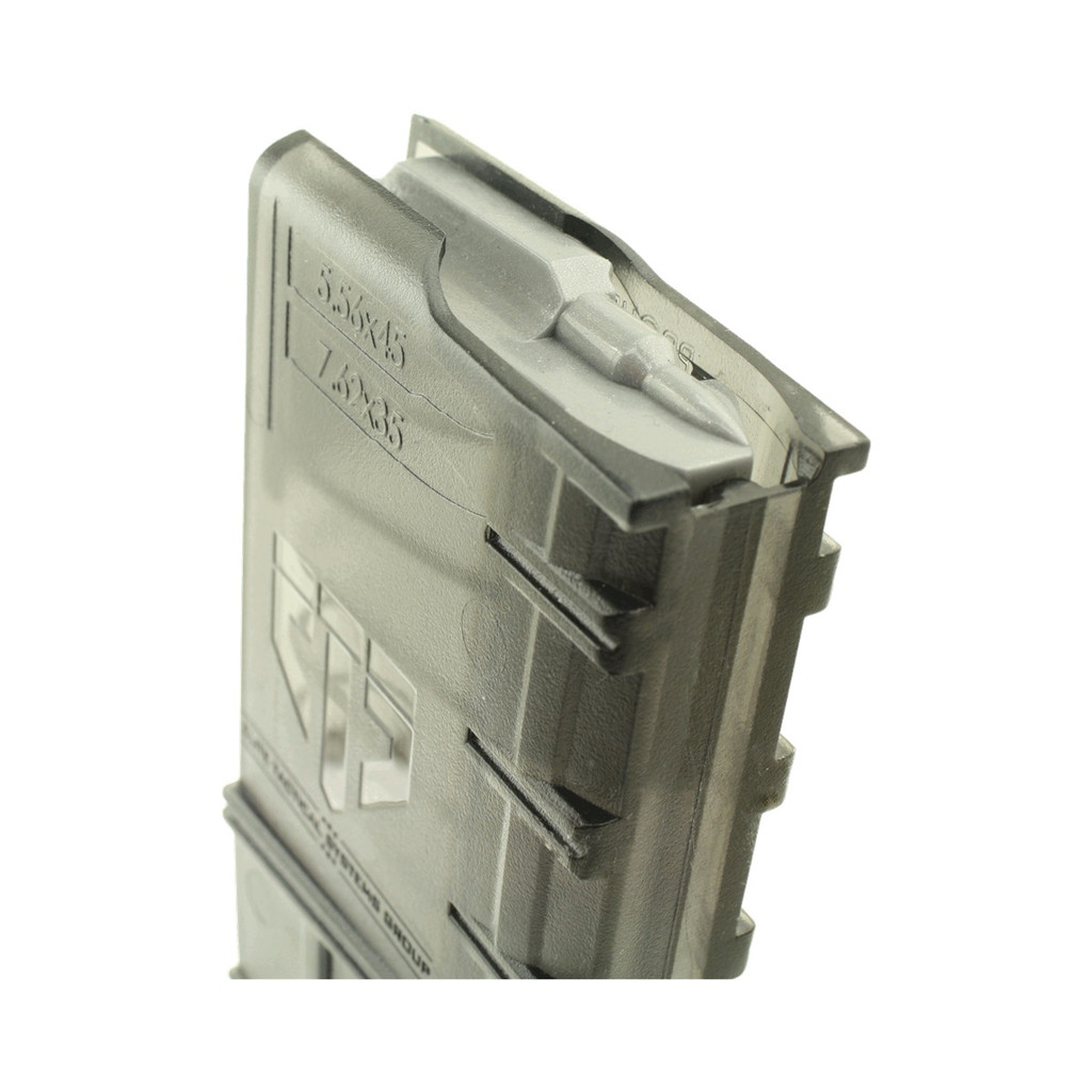 ETS AR-15 Translucent 30 Round Magazine With Coupler AR15-30C  854094005003 AR 15 5.56 .223 300BLK  7.62x35