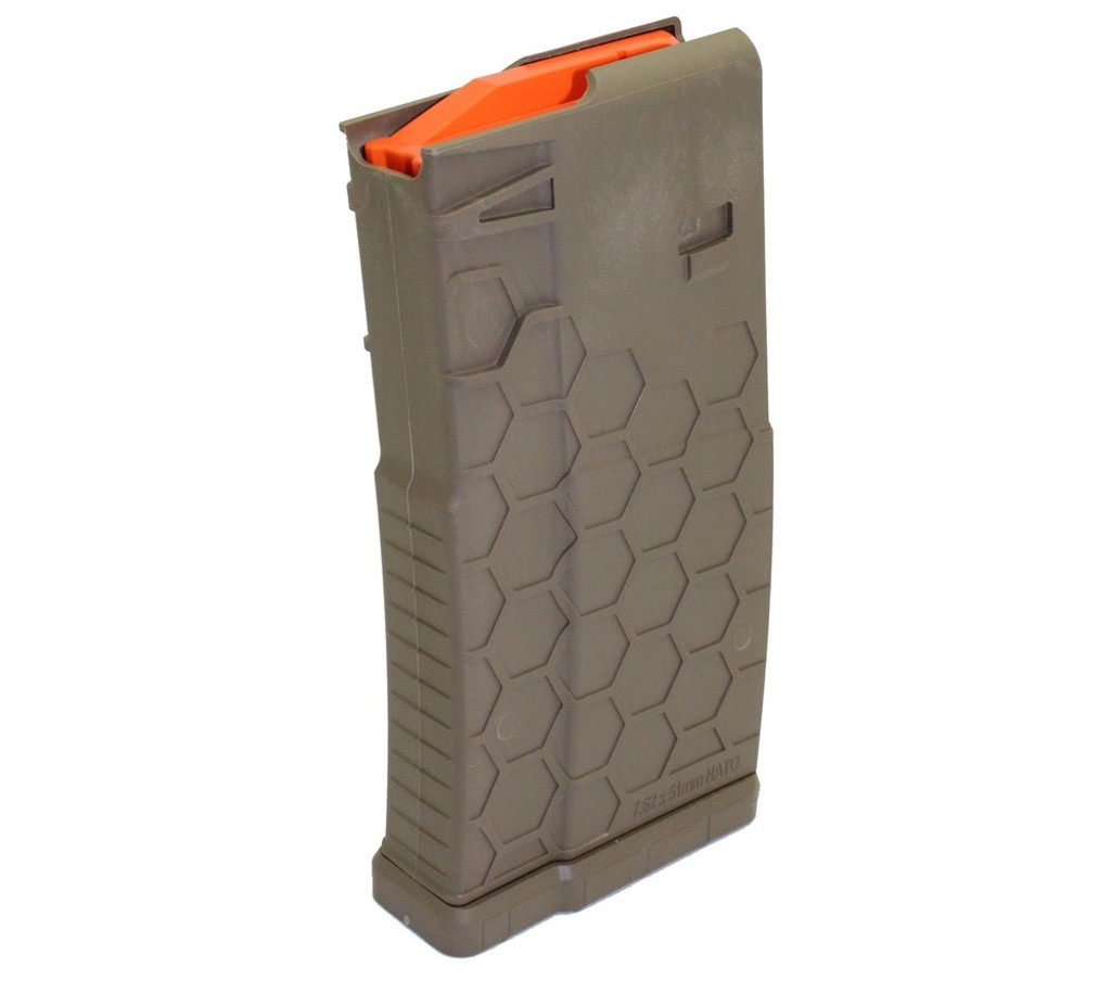 Hexmag Series One AR-10 7.62x51 Magazine .308 NATO MAG AR 10 Rifle HEXID 10 20 SR-25 Round FDE Flat Dark Earth