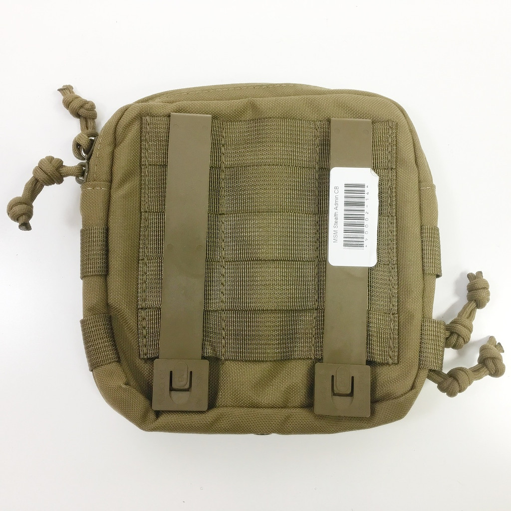 Mil-Spec Monkey Stealth Utility Admin Pouch Marine Coyote 003-MCOY MSM Brown