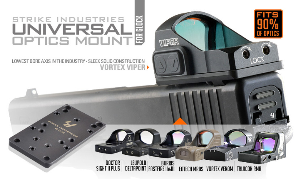 Strike Industries Glock Gun Universal Optics Mount G.U.M. SI-GLOCK-GUM SI 700598350470