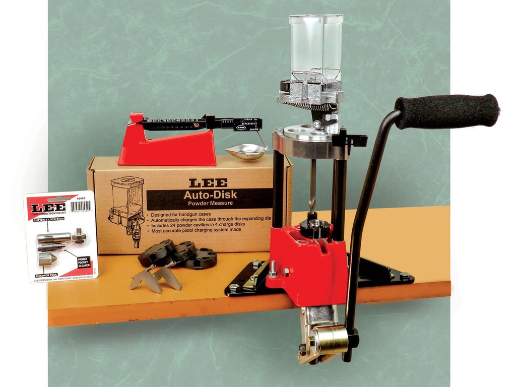 Lee Precision Four Hole Turret Press with Auto Index Value Kit 4 90928 734307909284