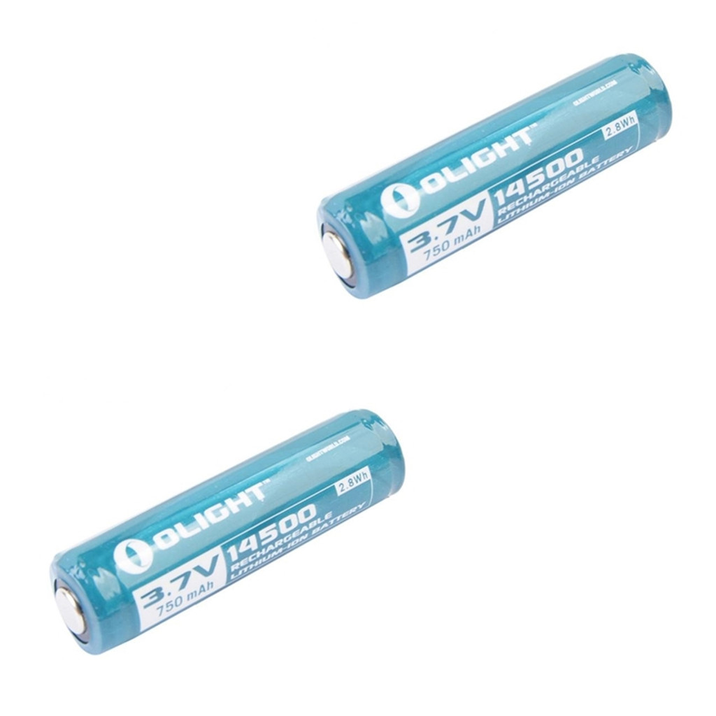 Olight 14500 Lithium-Ion 3.7V Protected Rechargeable Battery 2 Two Pack 14500LI 6950723824138