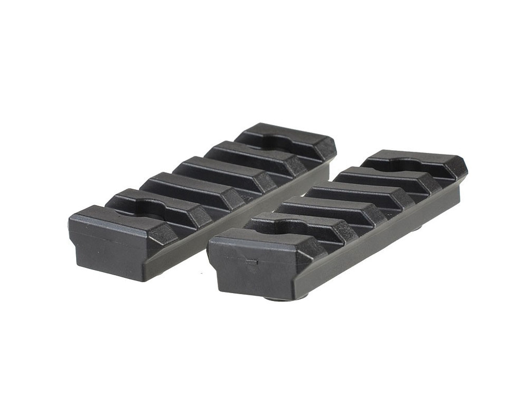 Strike Industries 2-Pack 5 Slot KeyMod Polymer Picatinny Rail Section Five KMPRS-5 700371179793