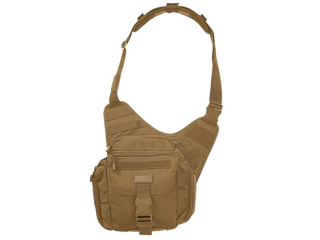 5.11 Tactical PUSH Nylon Pack Flat Dark Earth Messenger Bag FDE 56037-FDE 844802139212