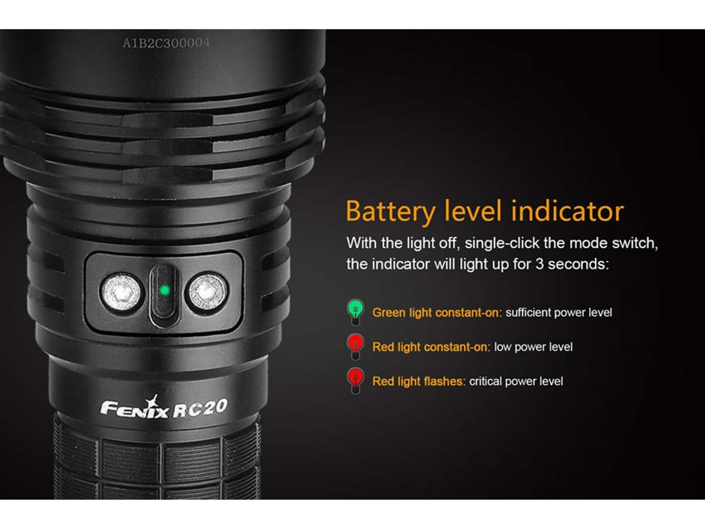 Fenix RC20 Flashlight 1000 Lumen LED 18650 Rechargeable Battery Charger FX-RC20  6942870303406