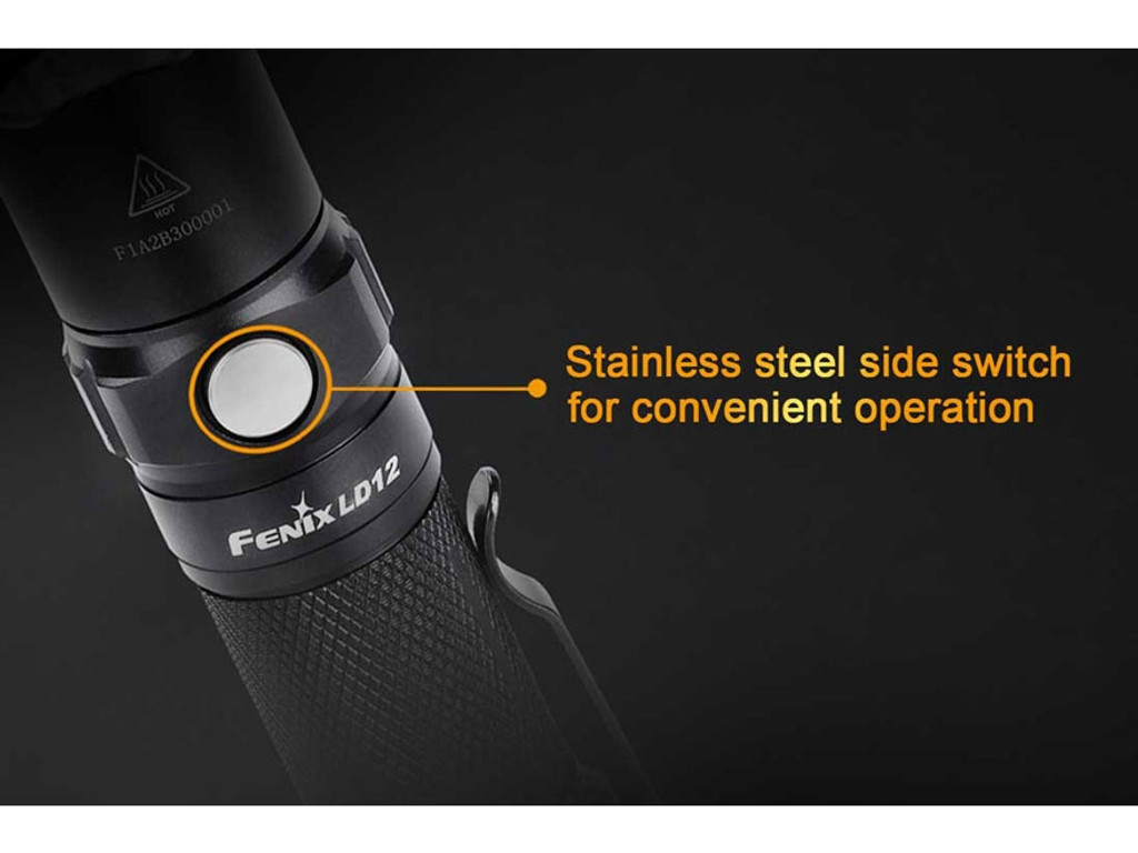 Fenix LD12 Flashlight 320 Lumen LED 14500 or AA Battery EDC FX-LD12 6942870304021