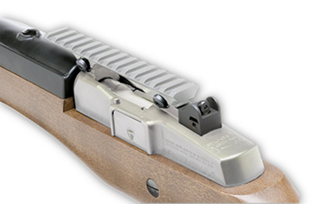 GG&G Scope Mounting Rail for Ruger Mini-14 & Mini-30 Ranch Silver GGG-1382BD