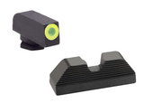 Ameriglo UC Green Trijicon Tritium Sight Set Glock GL-354 GL354 GL 354 644406904717 Sights G 17 19 33 34 30 21 20 27 9mm 9 mm Luger .40 40 cal 45 .45 ACP