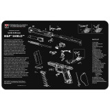Tekmat Smith & Wesson M&P Shield Neoprene Schematic Cleaning Mat 17-MP-SHIELD Black S&W