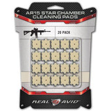 Real Avid 5.56 .223 AR-15 Star Chamber Cleaning Pads 20 Count AVAR15CP 813119011450 AR 15
