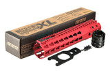 "Strike Industries MEGAFINS XL Hanguard Rail KeyMod 10"" RED MEGAFINS-XL-KM-10-RED 708747545340 Ten Inch AR-15"