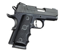 Hogue Colt 1911 Officers Model Rubber Grip With Finger Grooves Black 43000 0743108430002 .45ACP .45 ACP