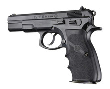 Hogue CZ-75 TZ-75 P-9 Rubber Wraparound With Finger Grooves Grip Black 75000 0743108750001 Handgun Pistol