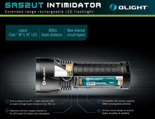 Olight SR52-UT Intimidator 1100 Lumen CREE LED Rechargeable Flashlight SR52-UT 6926540918190 Flash Light Lite
