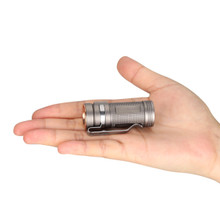 Olight S Mini Baton TI 550 Lumen Titanium LED Flashlight Bead Blasted SMINITI Limited Edition
