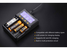 Fenix Four Bay Charger Plus Li-Ion & Ni-MH/Ni-Cd Rechargeable Battery 4 ARE-C2P 6942870304328