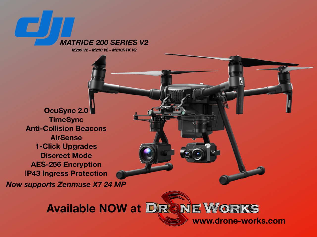 Built to Endure. Engineered to Adapt.  The ultimate platform for aerial productivity combines a rugged design and simple configurability to work as a solution for a variety of industrial applications. Improvements to the M200 Series V2 enhance intelligent control systems, flight performance, and add flight safety and data security features.