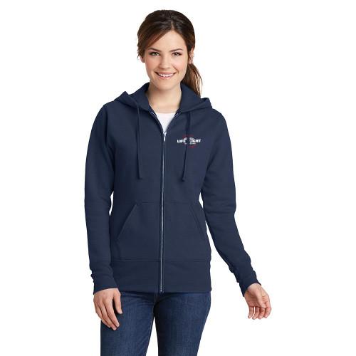 Ladies Core Fleece Full-Zip Hooded Sweatshirt (In Stock)