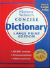 Merriam Webster's Large Print Dictionary