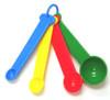 Color Coded Measuring Spoon Set-1/4tsp-1/2tsp-1tsp-1Tblsp