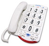 Clarity JV35W Amplified Phone w/Jumbo White Buttons & Braille
