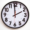 "15"" Wall Clock Extra Large Black Numbers on a White Dial"