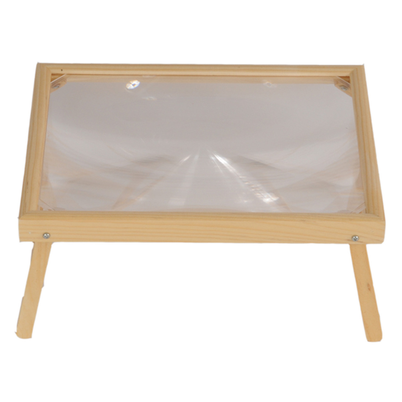 2X Fresnel Wooden Stand Magnifier