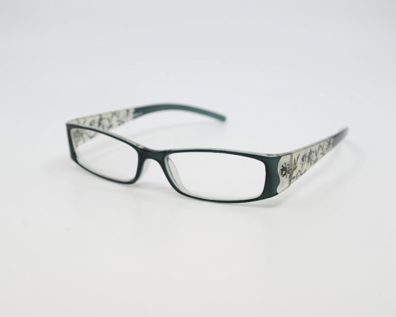 Women's Black Laser Cut Designer Readers