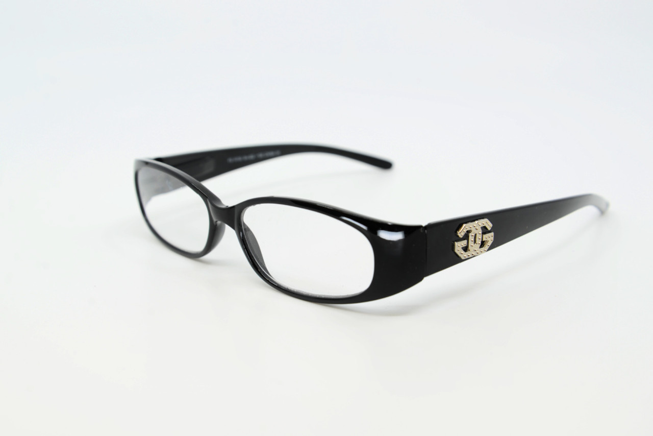 Black Plastic Frame Readers with Spring Hinged Temples