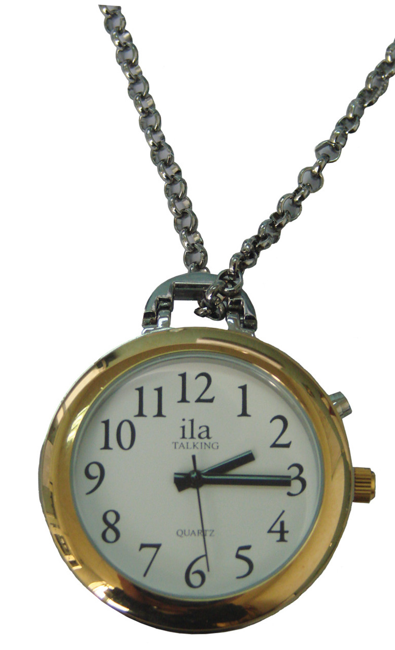 Choice of Voice Pendant Talking Watch Gold