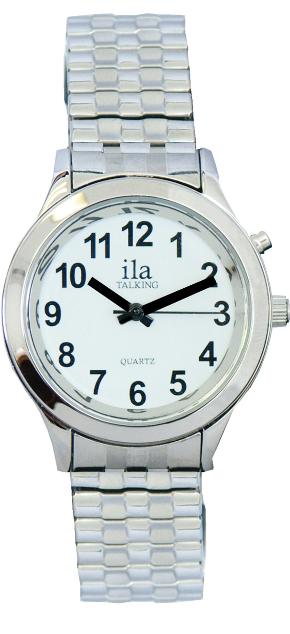 Ladies Silver ila 1 Button Talking Watch with Choice of Voice