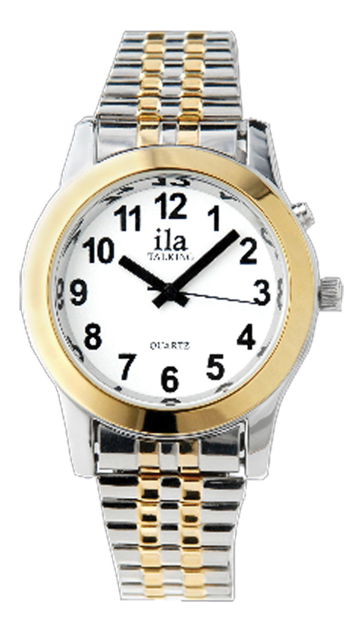 Ladies Two Tone  ila 1 Button Talking Watch with Choice of Voice