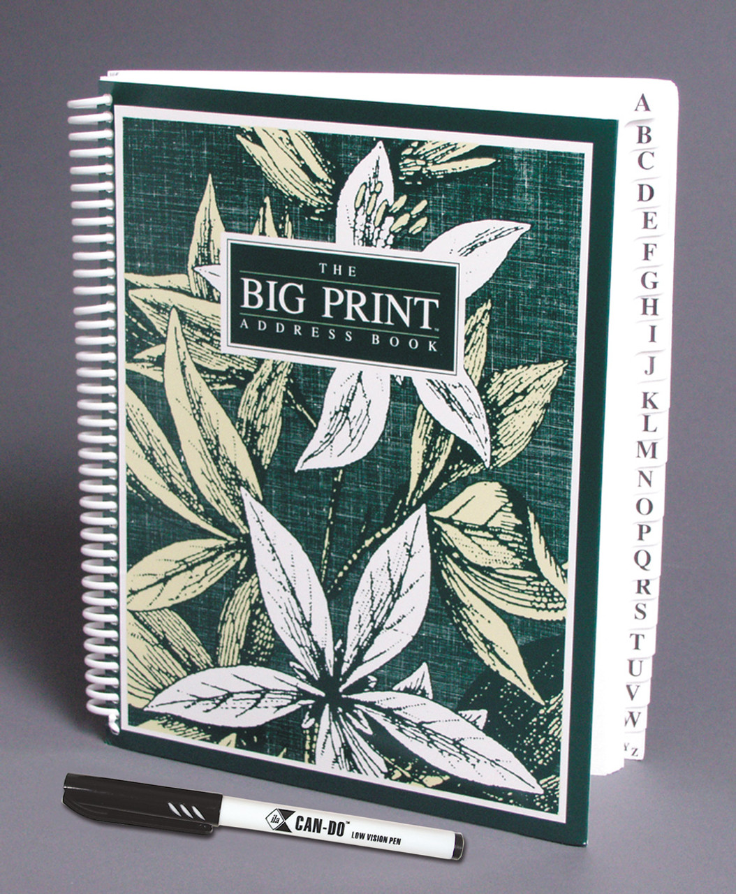 Big Print Address Book With ILA Low Vision Pen